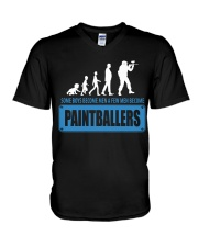 SOME BOYS BECOME MEN A FEW MEN BECOME PAINTBALLERS V-Neck T-Shirt thumbnail