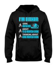 I'M EITHER THINKING ABOUT GOING MOUNTAIN BIKING Hooded Sweatshirt thumbnail