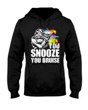 YOU SNOOZE YOU BRUISE Hooded Sweatshirt thumbnail