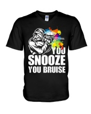 YOU SNOOZE YOU BRUISE V-Neck T-Shirt thumbnail