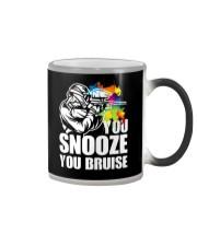 YOU SNOOZE YOU BRUISE Color Changing Mug thumbnail