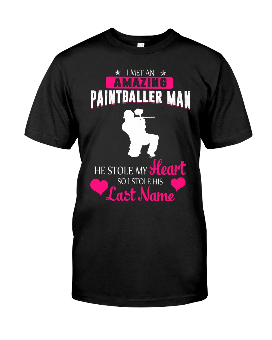 I MET AN AMAZING PAINTBALLER MAN Classic T-Shirt