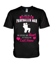 I MET AN AMAZING PAINTBALLER MAN V-Neck T-Shirt thumbnail