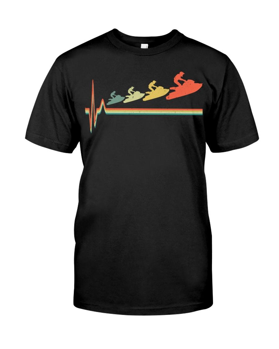 RETRO JET SKIING HEARTBEAT Classic T-Shirt