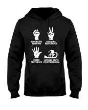 MOUNTAIN BIKING R-O-C-K P-A-P-E-R NOTHING BEATS  Hooded Sweatshirt thumbnail