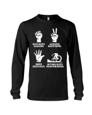 MOUNTAIN BIKING R-O-C-K P-A-P-E-R NOTHING BEATS  Long Sleeve Tee thumbnail
