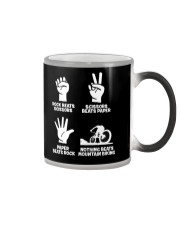 MOUNTAIN BIKING R-O-C-K P-A-P-E-R NOTHING BEATS  Color Changing Mug thumbnail
