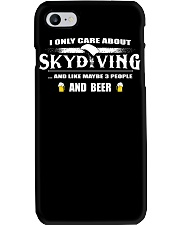 I ONLY CARE ABOUT SKYDIVING AND BEER Phone Case thumbnail