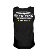 I ONLY CARE ABOUT SKYDIVING AND BEER Unisex Tank thumbnail
