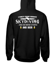I ONLY CARE ABOUT SKYDIVING AND BEER Hooded Sweatshirt thumbnail