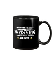 I ONLY CARE ABOUT SKYDIVING AND BEER Mug thumbnail