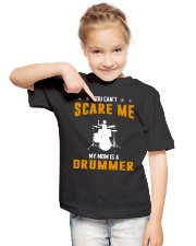 YOU CAN'T SCARE ME MY MOM IS A DRUMMER Youth T-Shirt lifestyle-youth-tshirt-front-2