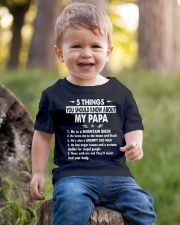 5 THINGS YOU SHOULD KNOW ABOUT MY PAPA - MTBIKER Youth T-Shirt lifestyle-youth-tshirt-front-4