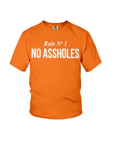Rule Number 1 No Assholes T Shirt Hoodie