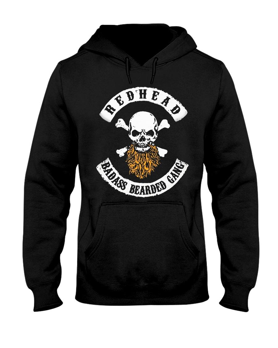 REDHEAD BADASS BEARDED GANG T SHIRT HOODIES Hooded Sweatshirt