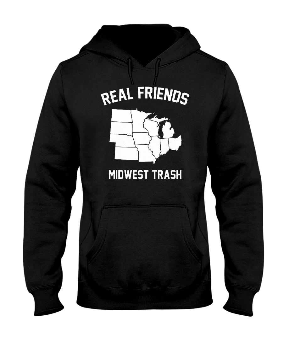 Real Friends Midwest Trash T Shirt Hoodie Hooded Sweatshirt