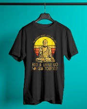I'm Mostly Peace Love Light And A Little Go F Yoga Classic T-Shirt lifestyle-mens-crewneck-front-3