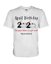 April Birthday V-Neck T-Shirt thumbnail