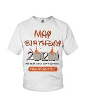 May Birthday Quarantine Youth T-Shirt thumbnail
