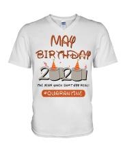 May Birthday Quarantine V-Neck T-Shirt thumbnail