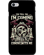 Hell's Coming With Me - Front side Phone Case thumbnail