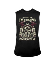 Hell's Coming With Me - Front side Sleeveless Tee thumbnail