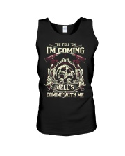 Hell's Coming With Me - Front side Unisex Tank thumbnail