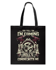 Hell's Coming With Me - Front side Tote Bag thumbnail
