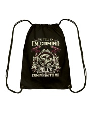 Hell's Coming With Me - Front side Drawstring Bag thumbnail