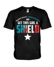 Get this girl a Shield V-Neck T-Shirt thumbnail