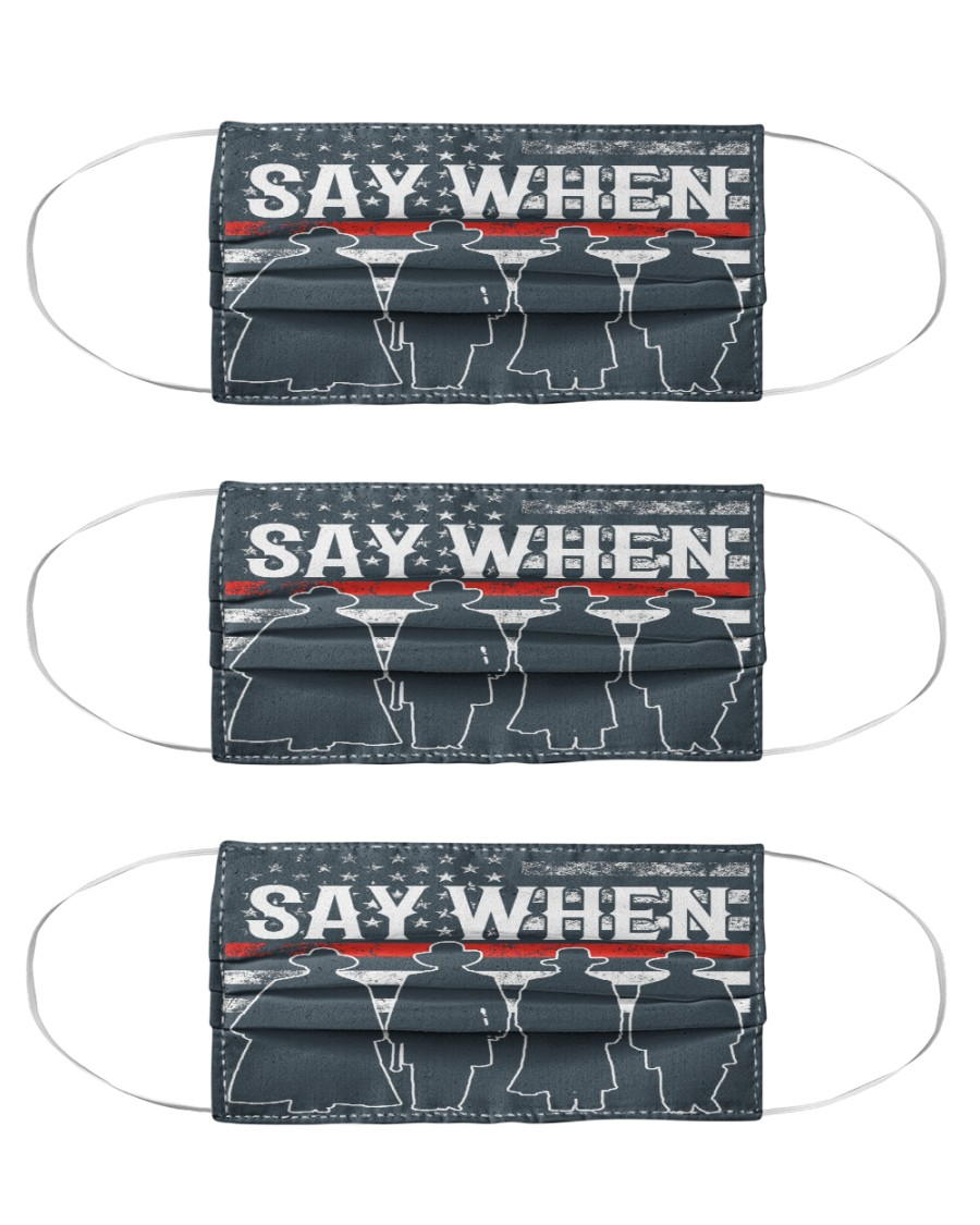 SAY WHEN Cloth Face Mask - 3 Pack