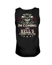 Hell's coming with me - Back side Unisex Tank thumbnail