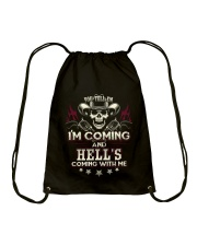 Hell's coming with me - Back side Drawstring Bag thumbnail