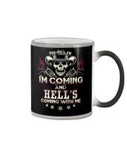 Hell's coming with me - Back side Color Changing Mug thumbnail