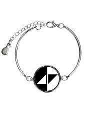 WAKE ME UP Metallic Circle Bracelet thumbnail