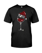 Wine Christmas Hat Classic T-Shirt front