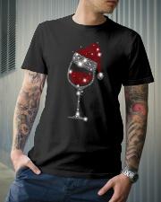 Wine Christmas Hat Classic T-Shirt lifestyle-mens-crewneck-front-6