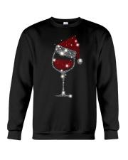Wine Christmas Hat Crewneck Sweatshirt thumbnail