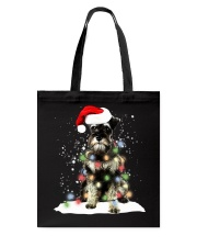 Schnauzer Christmas Tote Bag tile