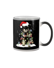 Schnauzer Christmas Color Changing Mug tile
