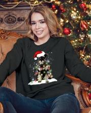 Schnauzer Christmas Crewneck Sweatshirt lifestyle-holiday-sweater-front-3