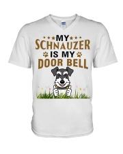 My Schnauzer Is My Door Bell V-Neck T-Shirt thumbnail