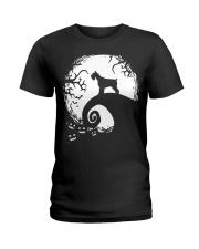 Schnauzer Halloween Ladies T-Shirt front