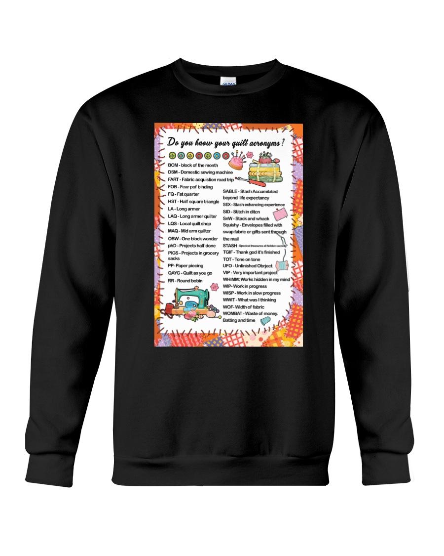 Quilter's code Crewneck Sweatshirt
