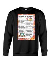 Quilter's code Crewneck Sweatshirt front