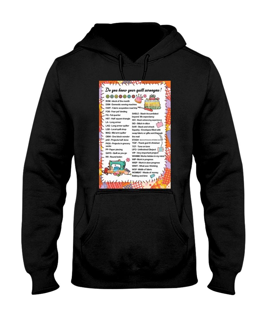 Quilter's code Hooded Sweatshirt