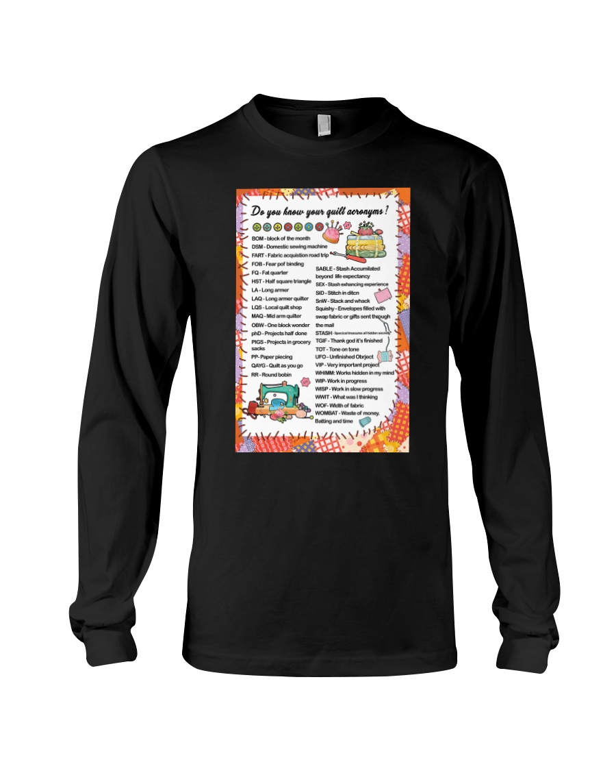 Quilter's code Long Sleeve Tee