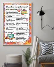 Quilter's code 11x17 Poster lifestyle-poster-1