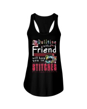 QUILTING with a friend Ladies Flowy Tank thumbnail