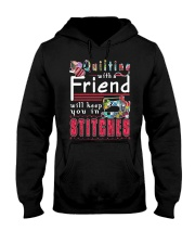 QUILTING with a friend Hooded Sweatshirt thumbnail